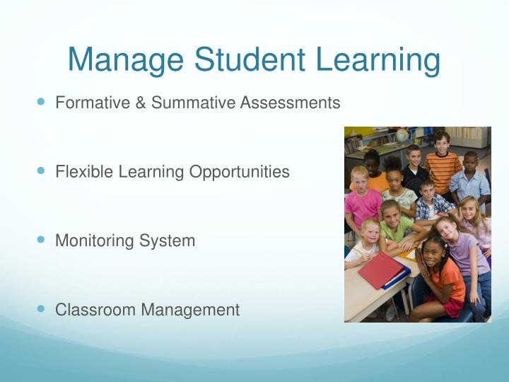 Manage Student Learning