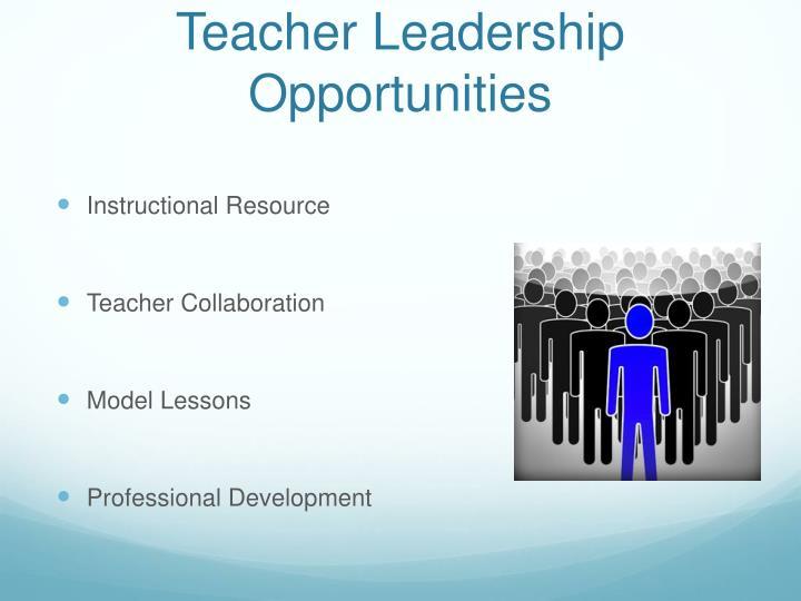 Teacher Leadership Opportunities
