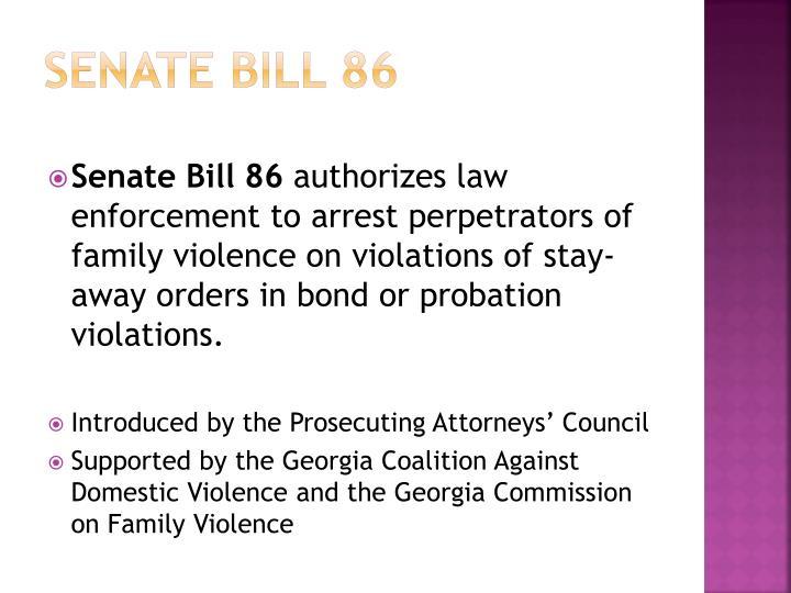 Senate bill 86
