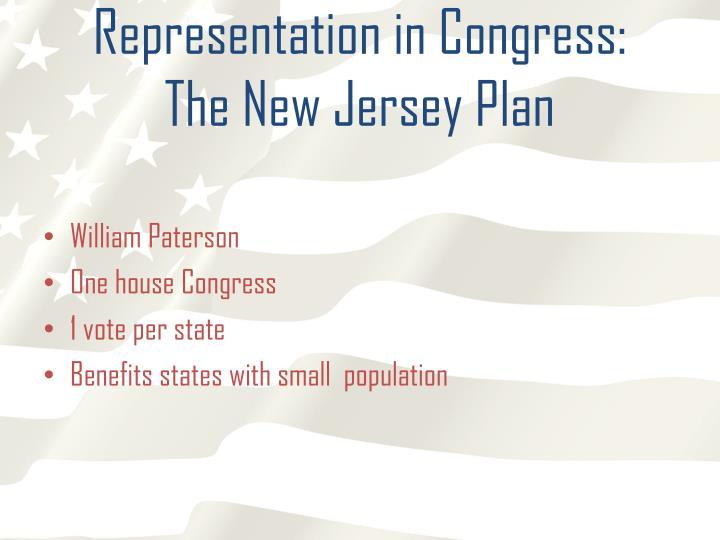 Representation in Congress: