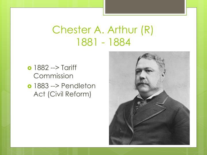 Chester A. Arthur (R)