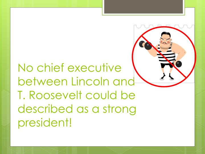 No chief executive between Lincoln and