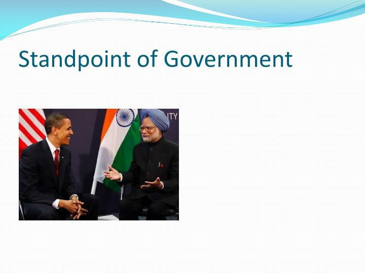Standpoint of Government