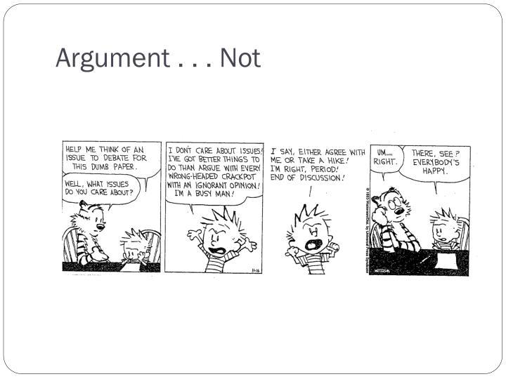 Argument . . . Not