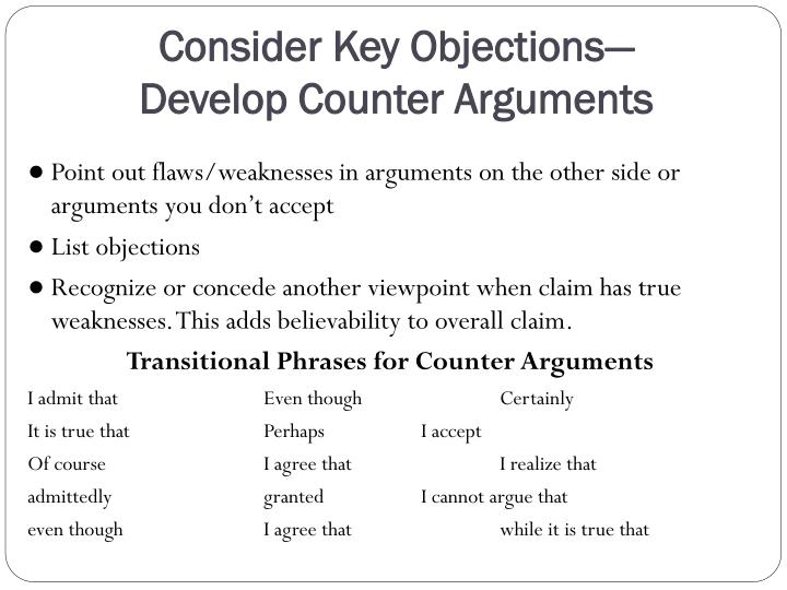 Consider Key Objections—