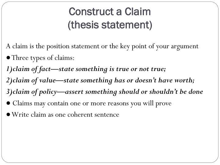 Construct a Claim
