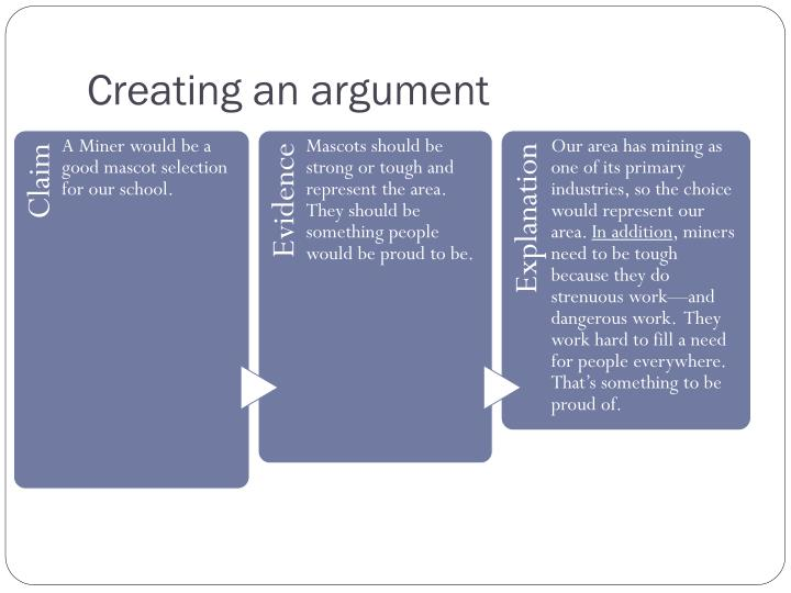 Creating an argument