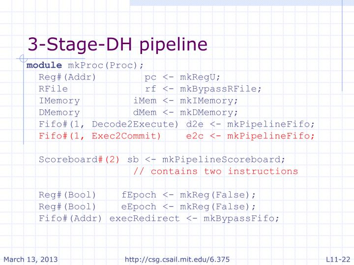 3-Stage-DH pipeline