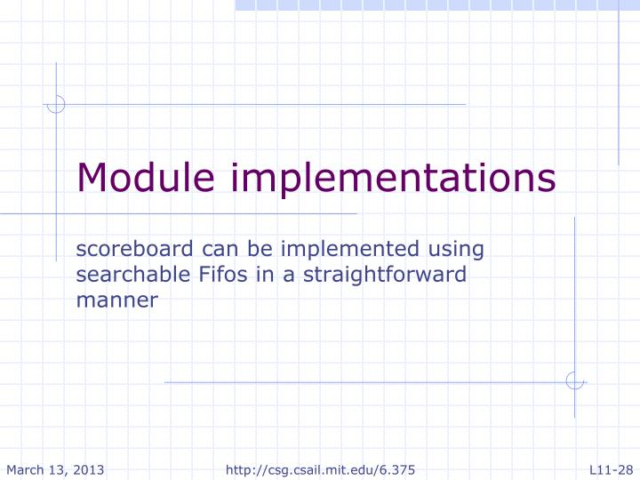 Module implementations