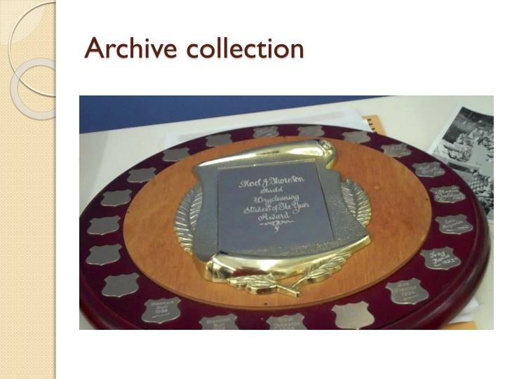 Archive collection