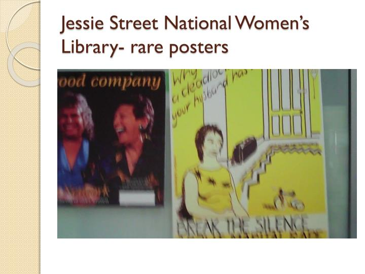 Jessie Street National Women's Library- rare posters
