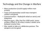 technology and the change in warfare