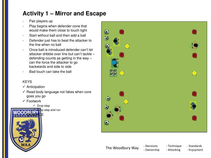 Activity 1 – Mirror and Escape