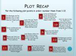 plot recap