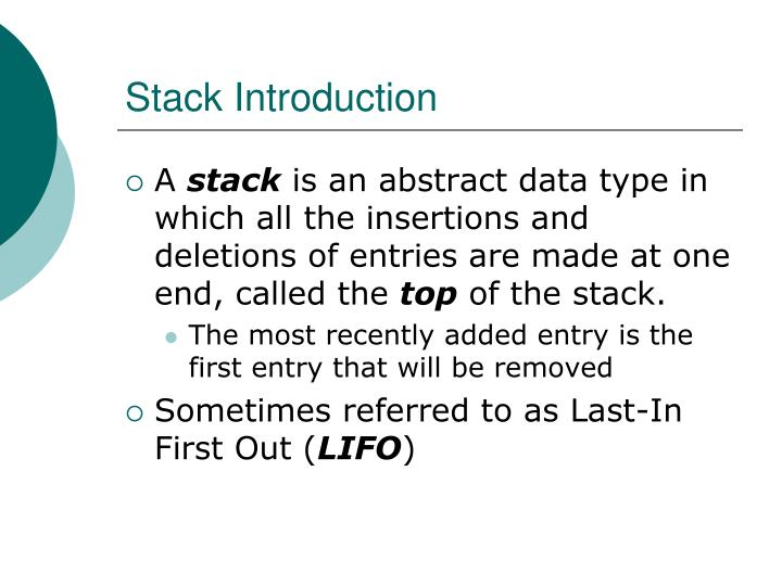 Stack Introduction