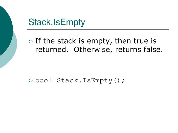 Stack.IsEmpty