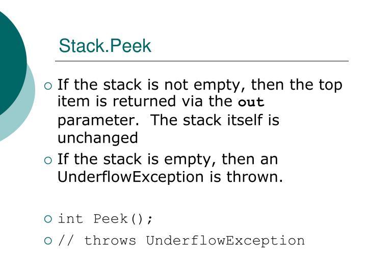 Stack.Peek