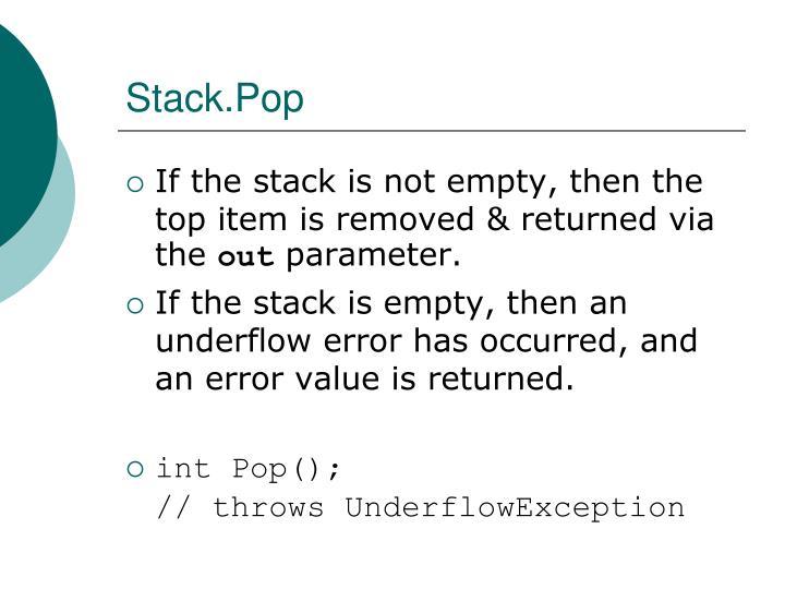 Stack.Pop