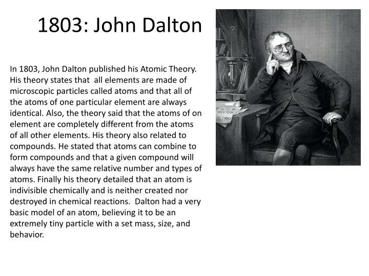 1803: John Dalton