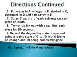directions continued