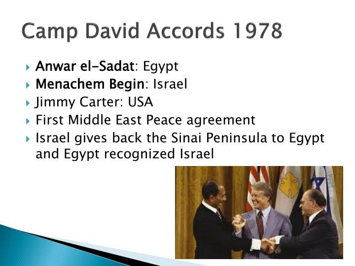 Camp David Accords 1978