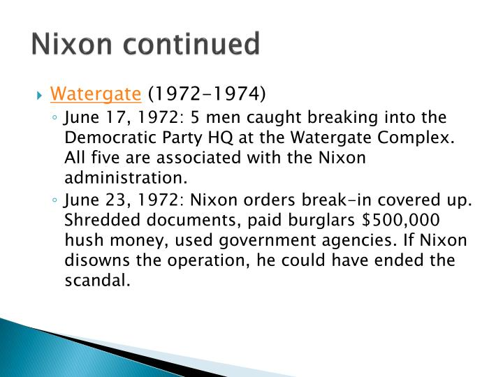 Nixon continued