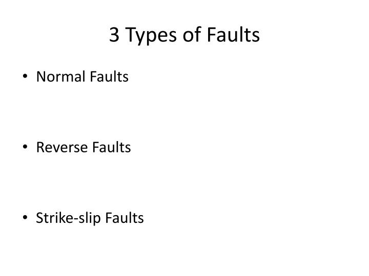 3 Types of Faults