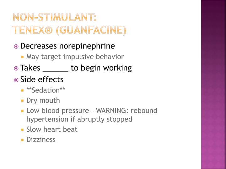 Non-stimulant: