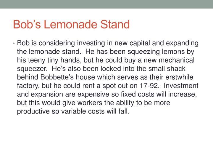 Bob's Lemonade