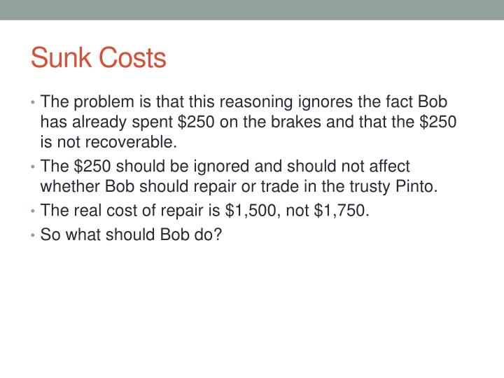 Sunk Costs
