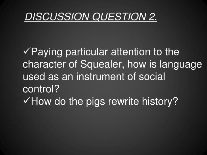DISCUSSION QUESTION 2.