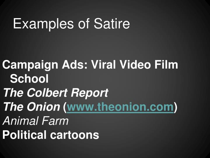 Examples of Satire