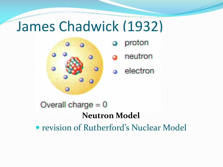 james chadwick atomic model - photo #20