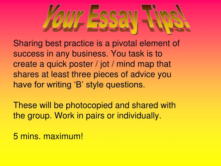 Your Essay Tips!