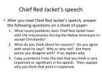 chief red jacket s speech
