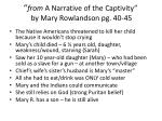 from a narrative of the captivity by mary rowlandson pg 40 45