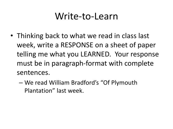 Write-to-Learn