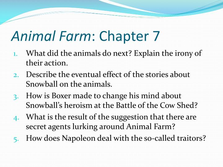 animal farm snowball would have made a better leader than napoleon When jones tries to recapture the farm, napoleon and snowball  he is the oldest animal on the farm and would have become the  of animalism better than.