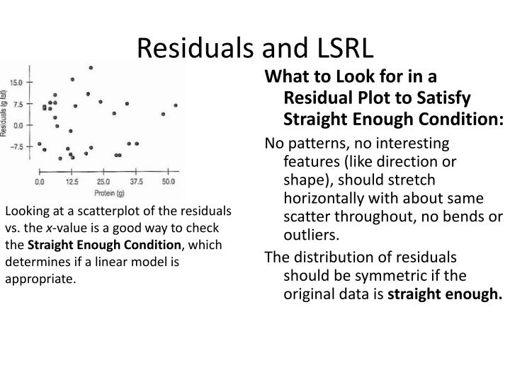 Residuals and LSRL