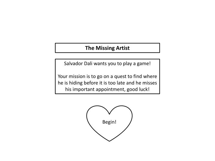 The Missing Artist