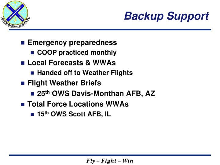 Backup Support
