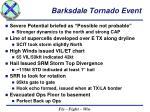 barksdale tornado event