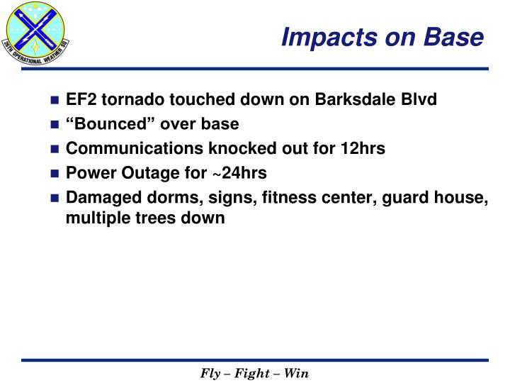 Impacts on Base