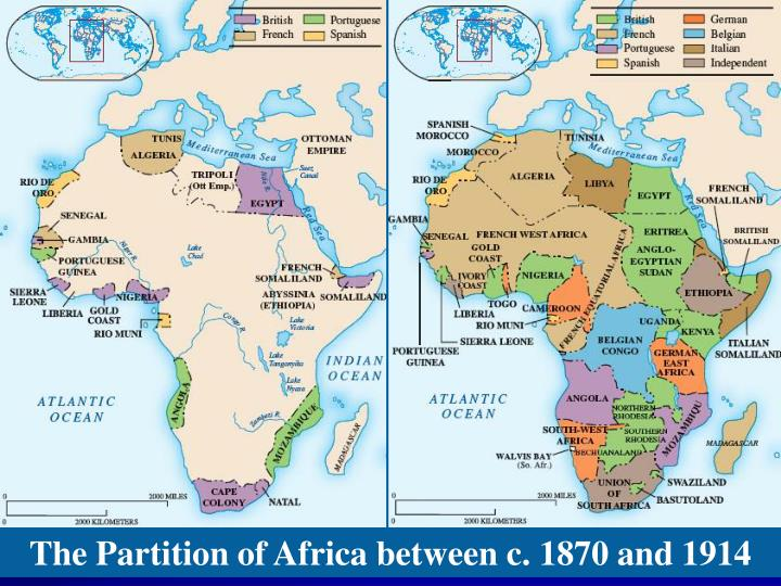 The Partition of Africa between c. 1870 and 1914