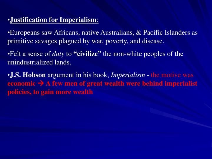 Justification for Imperialism