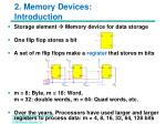 2 memory devices introduction