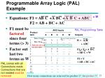 programmable array logic pal example
