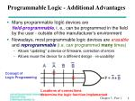 programmable logic additional advantages