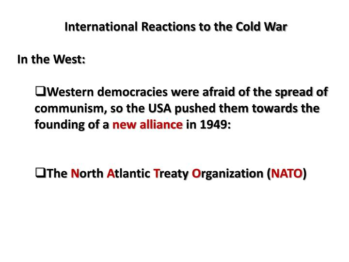 International Reactions to the Cold War