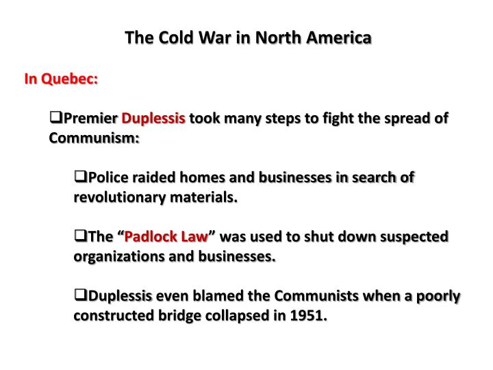 The Cold War in North America